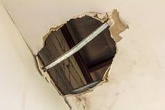 Ceiling panels damaged. Royalty Free Stock Image