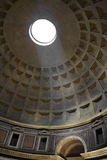 Ceiling of Pantheon in Rome Stock Photography