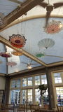 Ceiling parasols Stock Photography