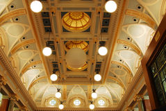 Ceiling of the parliament building Royalty Free Stock Image