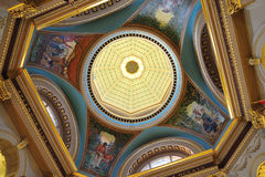 Ceiling of the parliament building Royalty Free Stock Images