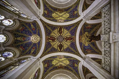 Ceiling of the peace palace. Ceiling of the main Hall of the Peace Palace Seat of the International Court of Justice, principal organ of the United Nations and Royalty Free Stock Image
