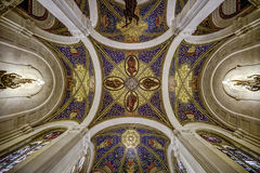 Ceiling of the peace palace. Ceiling of the main Hall of the Peace Palace Seat of the International Court of Justice, principal organ of the United Nations and Stock Photography