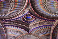 Ceiling in the Peacock room of Sammezzano Castle Royalty Free Stock Photo