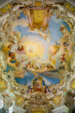Ceiling in Pilgrimage Church of Wies. Interior view. Bavaria, Germany. Royalty Free Stock Photos
