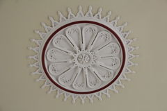 Ceiling plaster work. In Ireland Royalty Free Stock Image