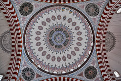 Ceiling of Prince Mosque, Istanbul, Turkey Stock Images