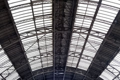Ceiling in railway station Stock Image