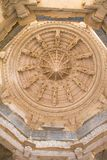 Ceiling in Ranakpur Chaumukha temple Royalty Free Stock Images