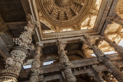 Ceiling in Ranakpur temple, Rajasthan Stock Photos