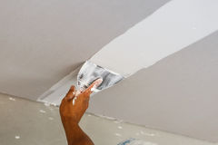 Ceiling repair for home renovate Royalty Free Stock Images