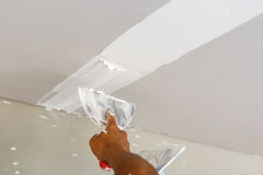 Ceiling repair for home renovate Stock Photography