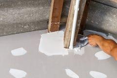 Ceiling repair for home renovate Stock Photo
