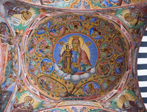Ceiling of Rila Monastery in Bulgaria Stock Photos
