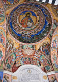 Ceiling of Rila Monastery in Bulgaria Stock Image