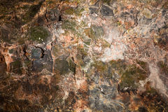 Ceiling of rock Stock Photography