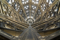 Ceiling of the Roman Catholic Cologne Cathedral, Germany. Stock Images