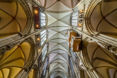Ceiling of the Roman Catholic Cologne Cathedral, Germany. Stock Image