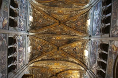 Ceiling romanesque cathedral in Parma Royalty Free Stock Photo