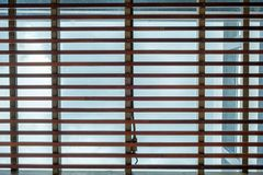 Ceiling roof decoration slat wooden Royalty Free Stock Photos