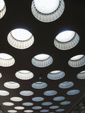 Ceiling with rooflights. Fragment Royalty Free Stock Photography