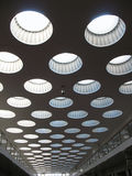 Ceiling with rooflights. Fragment Royalty Free Stock Photos