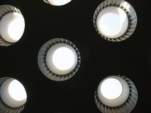 Ceiling with rooflights. Fragment Stock Photos