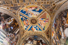 Ceiling of Room of Heliodorus in Vatican Museums Stock Images