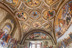 Ceiling Room of the Signatura in Vatican museums Royalty Free Stock Image