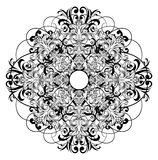 Ceiling rose. Vector image ornament ceiling rose royalty free illustration
