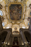 Ceiling of Royal Palace of Madrid Royalty Free Stock Photo