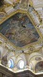 Ceiling in Royal Palace of Madrid Stock Photos