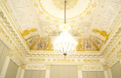 Ceiling of Russian museum in high key Stock Photos