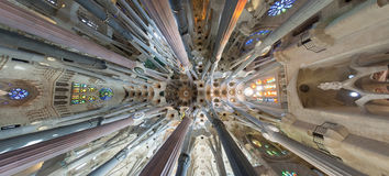 Ceiling Sagrada Familia Stock Photo
