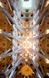 Ceiling Sagrada Familia, Barcelona, Spain Royalty Free Stock Photo
