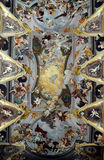 Ceiling of Saint Nicholas's Cathedral in Ljubljana, Slovenia Stock Image