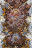 Ceiling of the Saint Paulinus Church in Trier, Germany Stock Images
