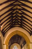 Ceiling of Saint Peter`s Church, Upper Slaughter. Gloucestershire Royalty Free Stock Photos