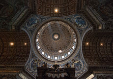 Ceiling of Saint Peters' Basilica. Rome, Italy Stock Photography