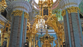 Ceiling of Saints Peter and Paul Cathedral. Saint Petersburg, Russia - July 2016 royalty free stock photos