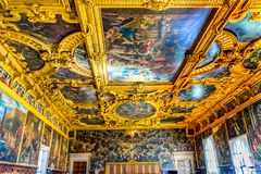 Ceiling Grand Council Palazzo Ducale Doge's Palace Venice Italy