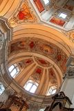 Ceiling at the Salzburg Cathedral (Salzburger Dom) Royalty Free Stock Images