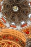 Ceiling at the Salzburg Cathedral (Salzburger Dom) Royalty Free Stock Photography