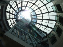 Ceiling of San Francisco Public Library. Shot of skylight in SFPL Royalty Free Stock Photo