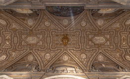 Ceiling of the San Pietro Basilica, Vatican Stock Images