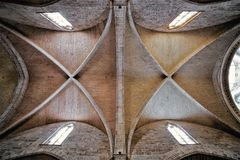 Ceiling of sanctuary at Cathedral of Valencia royalty free stock photos