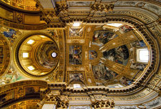 Ceiling of the Sant'Andrea della Valle. Sant'Andrea della Valle is a basilica church in Rome, Italy Stock Photography