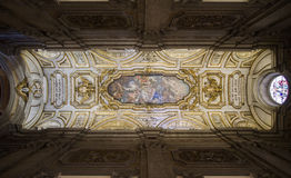 Ceiling of the Santa Croce in Gerusalemme Basilica Stock Photography