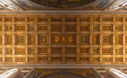 Ceiling of the Santa Maria Maggiore Basilica Royalty Free Stock Photo