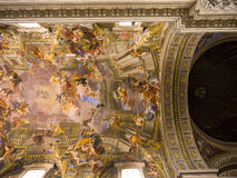The ceiling in Santa Maria Maggiore Basilica in Rome Italy. Rome Italy, the Eternal city, which has been a destination for tourists since the times of the Roman Stock Image